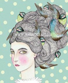 Resultado de imagen de dibujos de nidos en la cabeza