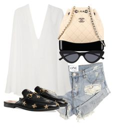"""Untitled #5273"" by theeuropeancloset on Polyvore featuring OneTeaspoon, Gucci and Chanel"