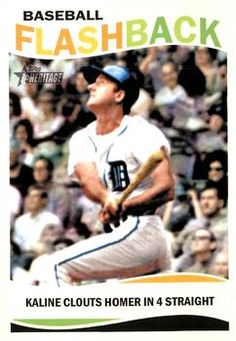 2013 Topps Heritage - Baseball Flashbacks BF-AK Al Kaline Detroit Tigers Baseball Card