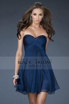 21aac80a335 Dark Navy Homecoming Dresses A-Line Sweetheart Short Mini Chiffon Sleeveless  Prom Dresses Blue