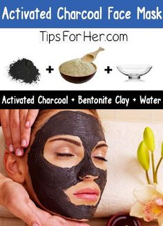 This activated charcoal face mask diy is another rinse-off type. It uses basically the same ingredients as the one above.