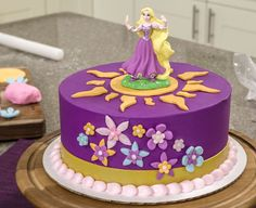 Disney Princess Rapunzel Gum Paste Figurine Cake Topper