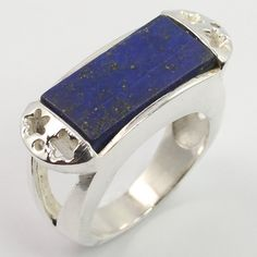 New Collection Ring Size US 8.5 Real LAPIS LAZULI Gemstone 925 Sterling Silver #Unbranded
