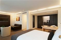 Junior Suite Crowne Plaza Zurich Bathtub, Bathroom, Bed, Zurich, Furniture, Home Decor, Switzerland, Standing Bath, Washroom