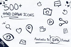 Check out 500+(10 free) Epic Hand Drawn Icons by EpicShop on Creative Market