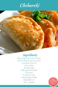 Chebureki. A national dish of the Crimean Tatars and traditional for the Caucasian and Turkic peoples, it is also popular as snack and street food throughout Transcaucasia, Central Asia, Russia, Ukraine, as well as with the Crimean Tatar diasporas in Turkey and Romania
