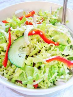Sio-smutki: Surówka do grilla Salad Recipes, Healthy Recipes, Healthy Food, Foods With Gluten, Cabbage, Grilling, Gluten Free, Vegetables, Cooking