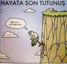 Hayata Son Tutunuş.   Böyle olmamalı...  #karikatür #mizah
