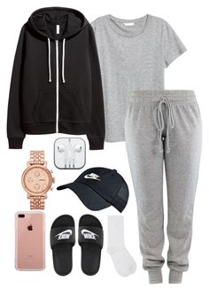"""Untitled #309"" by kingrabia on Polyvore featuring M&Co, NIKE, H&M, FOSSIL and Belkin"