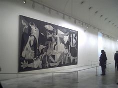 Sense of Size of Picasso's Guernica at Reina Sofia Museum in Madrid, Spain