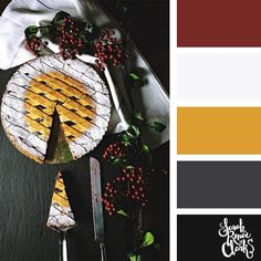Christmas pie // Christmas Color Schemes // Click for more Christmas color palettes, mood boards and color combinations at https://sarahrenaeclark.com #color #colorscheme #colorpalette