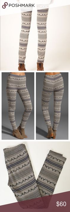 Lori & Jane Brown & Orange Fair Isle Leggings | Fair isles and Brown