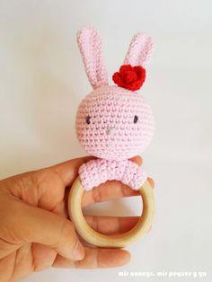 my nancys, my kids and me, rattle amigurumi teddy bear and bunny, free pattern, bunny … Amigurumi Tutorial, Baby Rattle, Amigurumi Doll, Baby Boy Shower, Crochet Baby, Free Pattern, Hello Kitty, Crochet Patterns, Bunny