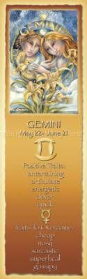 Zodiac Series / Gemini - Bookmark by Jody Bergsma Gemini Sign, Aquarius And Libra, Zodiac Signs Gemini, Zodiac Art, Horoscope Signs, Astrology Zodiac, Gemini Facts, Birth Month Stones, Birth Stones
