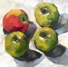 """Daily Paintworks - """"Minority apple"""" - Original Fine Art for Sale - © Ans Debije Apple Painting, Fine Art Gallery, Art For Sale, Sketch, Paintings, Book, Artist, Painting Art, Sketch Drawing"""