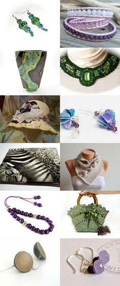 Trending Style for Summer by Jackie Benedict on Etsy--Pinned with TreasuryPin.com #Collar #Jewelry #Earrings #Hat #Jewelry