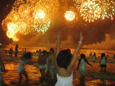Copacabana, Rio de Janeiro, Brazil -where 2 million people celebrate NYE on the beach!