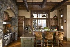 Lodge Style Decorating | Decorating: Lake & Lodge Style / Rustic Kitchen
