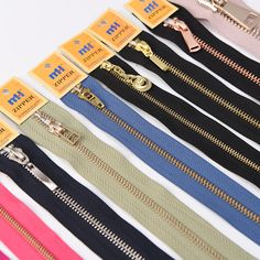 YKK Blue Brass Jean Zip Heavy Duty Closed End 15cm Number 5 PACK OF 5 Trimming