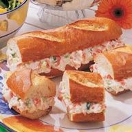 Crab Melt Loaf (Using Imitation Crab Meat)...A Superb Recipe For An Appetizer At A Party....Cut In Small Chunks and Arrange On  Nice Plate For Some Pre-Dinner Munching!!  Sounds Superb and I Am A Fan Of Imitation Crab Meat!!