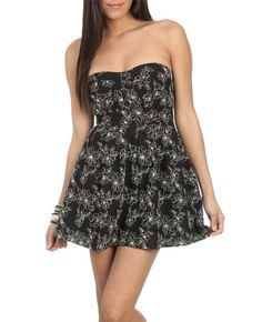 Embroidered Button Tube Dress from WetSeal.com