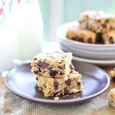 Chocolate Chip Blondies | Just Putzing Around the Kitchen