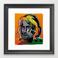 Work copyright  Andrew Oyl Miller oylmiller@gmail.com Society6 Shop - Instagram - Facebook 'Kurt' art print by @oyldraws on @society6. Click link in bio for details.  #society6 #shop #oylmiller #tshirt #design #instaartist #art #illustration #drawing #nirvana #kurtcobain #music #seattle #rock #grunge #smellsliketeenspirit