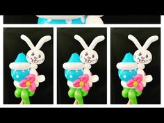 A cute balloon design perfect for Easter and many other occasions. It can be wear it as a bracelet, headband , a wand or just decorating a table. Balloon Animals, Easter Bunny, A Table, Balloons, Make It Yourself, How To Make, Crafts, Characters, Youtube