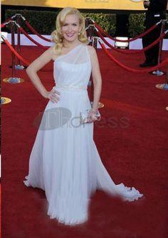 One Shoulder Floor-Length Celebrity Dresses