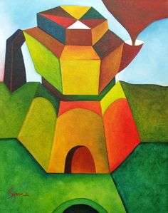 """""""Coffee Pot House"""" original acrylic by Pietro Spica available at the R.Michelson Galleries"""