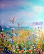 julialafferty.co.uk  Wildflowers by the sea