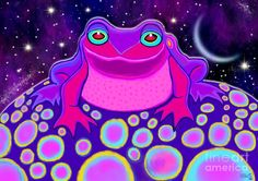 Frogs Painting - Croaking At Midnight  by Nick Gustafson