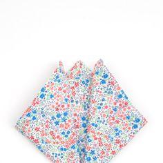 White floral pocket square, white floral handkerchief, men's handkerchief, adult handkerchief, child's pocket square, men's accessories