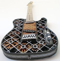 From the world of Steampunk - a Steampunk Telecaster - Wonderin' how heavy this puppy must be?