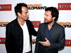 Jason Bateman and Will Arnett at the Arrested Development premiere