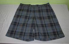 Men's PATAGONIA Flat Front  Casual Shorts Sz 36 - Blue  Plaid - Organic #GregNorman #CasualShorts