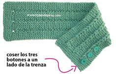 Cuello con trenzas de vainilla - Tejiendo Perú Knitting Patterns Free, Knit Patterns, Free Pattern, Punto Red Crochet, Knit Dress, Knitted Hats, Baby Shower, Accessories, Clothes
