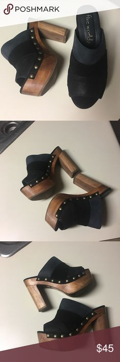 "Shoe FIVE WORLDS size 6.5 Excellent condition, heels 4.7"" Five Worlds Shoes Platforms"