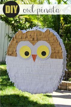 make an owl piñata