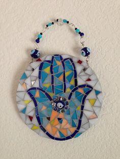 Mosaic: Hamsa - Hand. BeeBee's mosaic design.