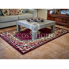 Quality Machine-Made Mats by Cosy House - Best Traditional and Oriental Rug for Kitchen, Door Entrance & Hallways, Durable Polypropylene Material Imported - Easy Care Rugs (Kingdom Burgundy, 2 x 3) Cosy House Collection http://www.amazon.com/dp/B01AWY0YT0/ref=cm_sw_r_pi_dp_jRIexb1Z050PC