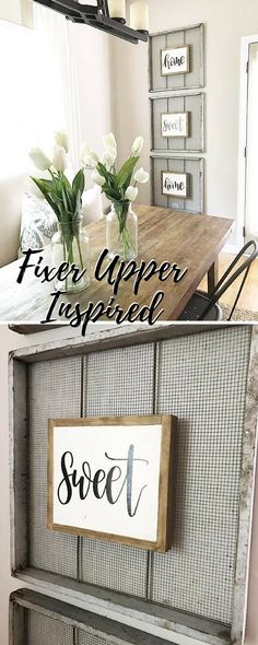 Fixer Upper Reclaimed style! Loving the screens! #farmhouse #decor #etsy #walls #rustic #reclaimed  #ad