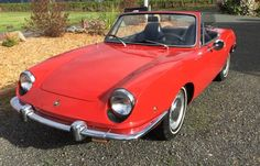 This 1969 Fiat 850 Spider has very decent cosmetics and is said to run quite well, too. The ad is very brief, but the car looks promising in photos,with straight bodywork, complete, shiny trim, and what may be an original black California plate in back--the interior looks good too, though no top up