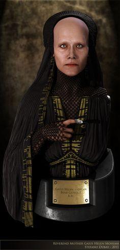 Reverend Mother in Zbrush. Dune