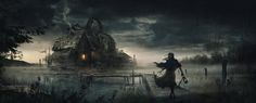 Concept Art - Hostage Films New York - Unannounced Movie. Watermill by Juan Pablo Roldan. ArtStation