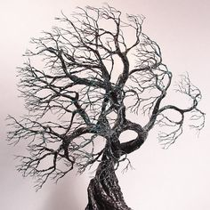 Wire Tree Of Life 2 Wind Spirits sculpture Amber by CrowsFeathers, sold