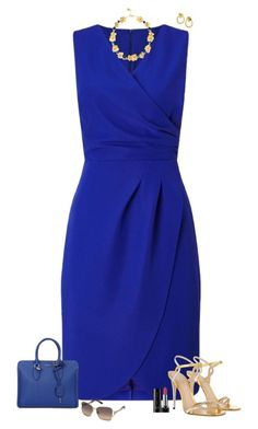 Royal blue A fashion look from May 2017 by julietajj featuring Precis Petite, Gucci, Alexander McQueen, Tory Burch, Swarovski and Marc Jacobs Blue Dress Outfits, Dressy Outfits, Blue Dresses, Casual Dresses, Fashion Dresses, Royal Blue Outfits, Fuchsia Dress, Navy Dress, Classy Work Outfits