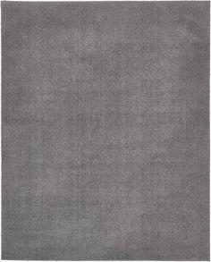Dark Gray 8' x 10' Solid Shag Rug | Area Rugs | eSaleRugs