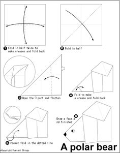 Origami polar bear