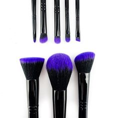 Love purple? This professional purple brush set is the ultimate travel brush set for those on the go. Shop: http://furlesscosmetics.com/purple-makeup-brush-set/